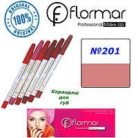 Карандаш для губ Flormar №201