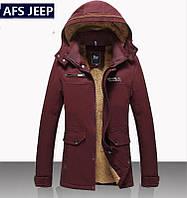Пуховик мужской, парка,куртка зимняя на овчине Jeep .Натуральный пух.