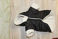 Одежда для собачки куртка с капюшоном черная на утеплителе Все размеры