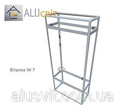 Конструктор (каркас) вітрини і прилавки із алюмінієвого профілю (2578)1449,2576,2721, фото 3