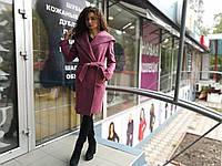 Женское демисезонное пальто, с капюшоном + пояс, фото 1