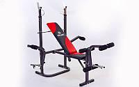 Скамья атлетическая (для жима) BH1034Е (металл,PVC,р-р 154x126x64см,вес польз. до 100кг), фото 1