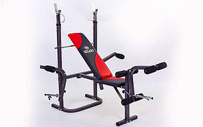 Скамья атлетическая (для жима) BH1034Е (металл,PVC,р-р 154x126x64см,вес польз. до 100кг)