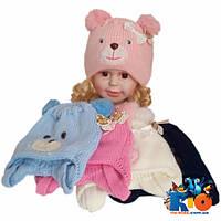 Детская шапка на меху, для девочек р-р 36-38 (5 ед в уп)