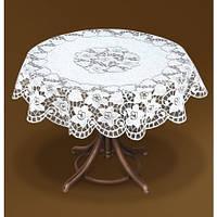 Скатертина ажурна 200 см на круглий стіл