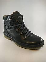 Ecco ботинки 40,41 размер из натуральной кожи черный