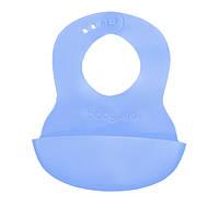 Мягкий нагрудник с регулируемой застёжкой  BabyOno (835) голубой