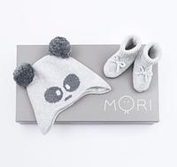 Зимние детские вязаная шапка и пинетки Mori Baby (Англия)