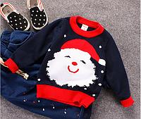 Вязанный свитер Санта для мальчика 2,3,4,5,6,7 лет