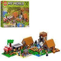 Детский конструктор Майнкрафт 44042 MK, 2в1, строения, фигурки, 1762дет, в кор-ке, 58-44,5-8см