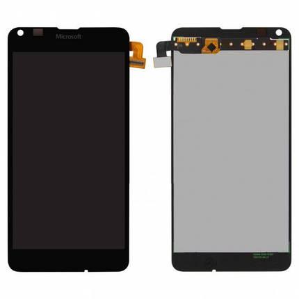 Дисплей (екран) для Microsoft (Nokia) 640 Lumia (RM-1077) з сенсором (тачскріном) черный, фото 2