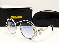 Женские солнцезащитные очки Roberto Cavalli 1024 Lux (голубой цвет)