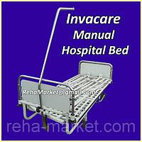 Hospital Bed Надежная Металлическая кровать с мануальным приводом для больниц и частных клиник.