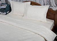 Жаккардовое постельное белье евро размера Deco Bianca JK 17-02 KREM