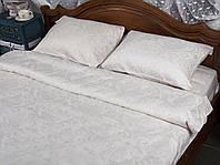 Жаккардовое постельное белье евро размера Deco Bianca JK 17-01 KURIK BEYAZ