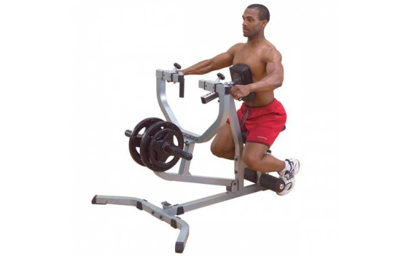 Тяга к груди с упором AX1026 Seated Row Machine (металл, PVC, р-р 150x90x121см)