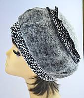 Берет женский Модница  шерстяной  весенняя  размеров 56-57 и 57-58 серый, бежевый, черный