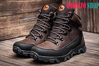 Мужские зимние кожаные ботинки Merrell brown 40,41,42,43,44,45р (30см)