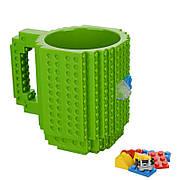 Чашка конструктор Lego. Зеленая