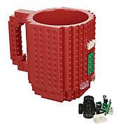 Чашка конструктор Lego. Красная