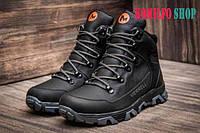 Мужские зимние кожаные ботинки Merrell black 40,41,42,43,44,45р (30см)