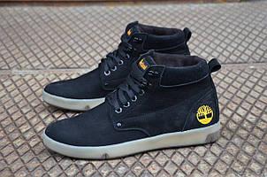 Мужские ботинки Timberland черные (Реплика)