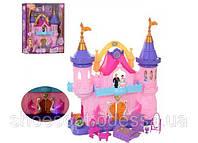 Домик для кукол Замок принцессы с каретой, светом и звуком, мебелью, фигурками