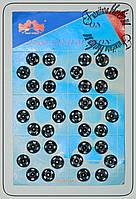 Кнопка пришивная № 1 черная