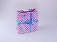Пакет подарочный пластиковый 22,5х22х10 см., разноцветный