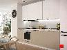 Кухня модульная Flat черный 3000 мм MDF крашенный мат, фото 3