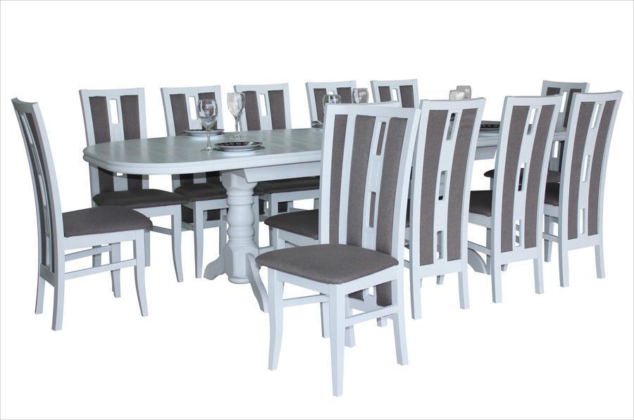 Стол раскладной Престиж белый 280х100х76 см обеденный деревянный