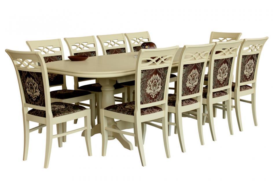 Стол раскладной Престиж бежевый 280х100х76 см обеденный деревянный