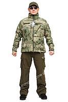 """Куртка тактическая, непромокаемая осень-весна Mil-tec Softshell, A-tacs green """"XXL"""" 60-62"""