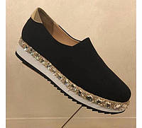Туфли женские Замшевые с камнями 38 40 Dolce Gabbana