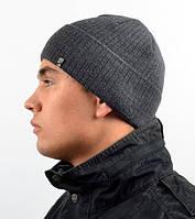 Стильная мужская шапка с отворотом., фото 1