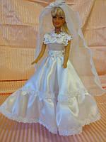 Свадебное платье на Барби.