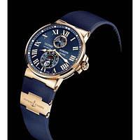 Мужские механические часы Ulysse Nardin (Улис Нардин) золото-синие