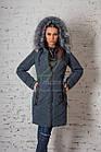 Брендовое пальто с мехом для женщин сезона зима 2017-2018 - (модель кт-167), фото 7
