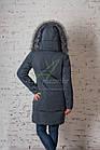 Брендовое пальто с мехом для женщин сезона зима 2017-2018 - (модель кт-167), фото 8