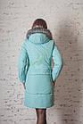 Брендовое пальто с мехом для женщин сезона зима 2017-2018 - (модель кт-167), фото 3