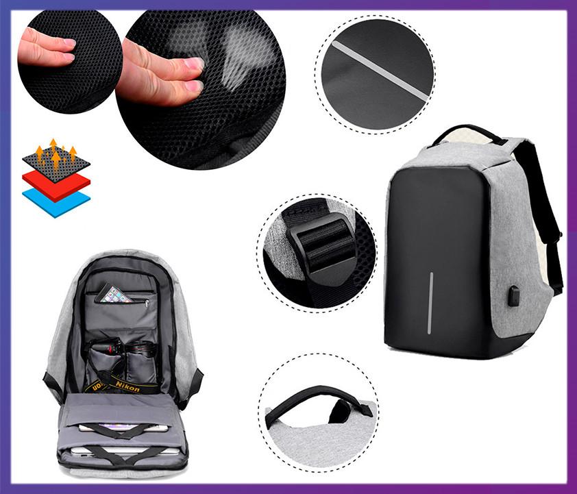 daea8dd59049 Рюкзак-антивор с USB Портом Bobby Backpack — в Категории