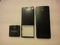 Корпус для телефона Nokia 515 черный в сборе заводской оригинал