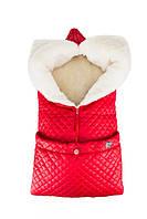 Дитячий зимовий конверт Red (овчина) червоний Merrygoround