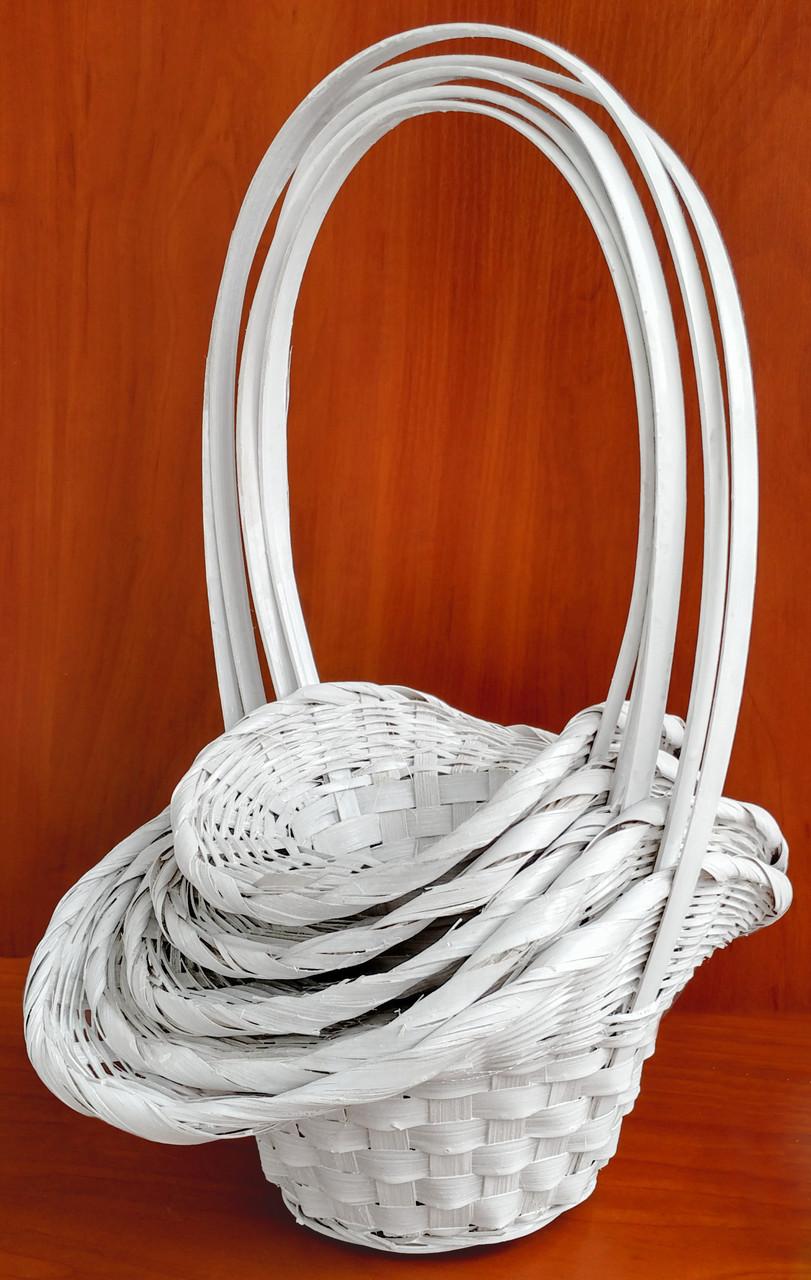 Корзина белая, набор из 5 шт (37 х 27 см)