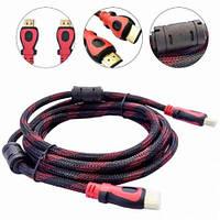 HDMI-HDMI кабель Позолота Ферриты 1,5 метра для компьютера, ноутбука,  телевизора, TV, фотоаппарата, есть ОПТ