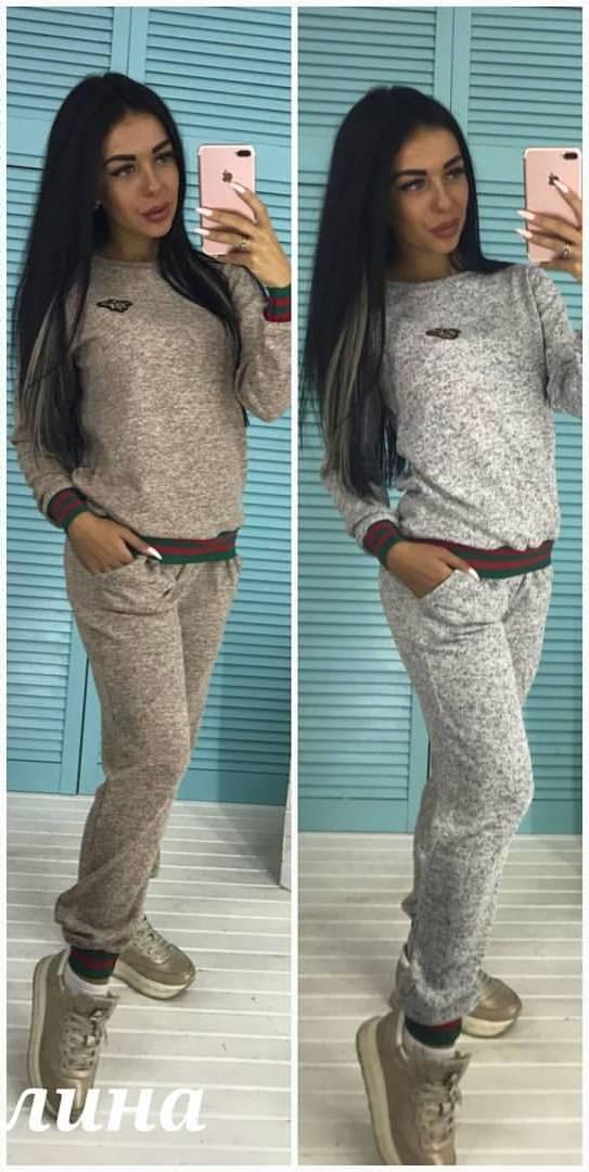 182b00b9 Спортивный женский костюм из ангоры меланж 3705123 - Интернет-магазин одежды