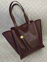 Женская сумка копия Zara качественная эко-кожа бордовая