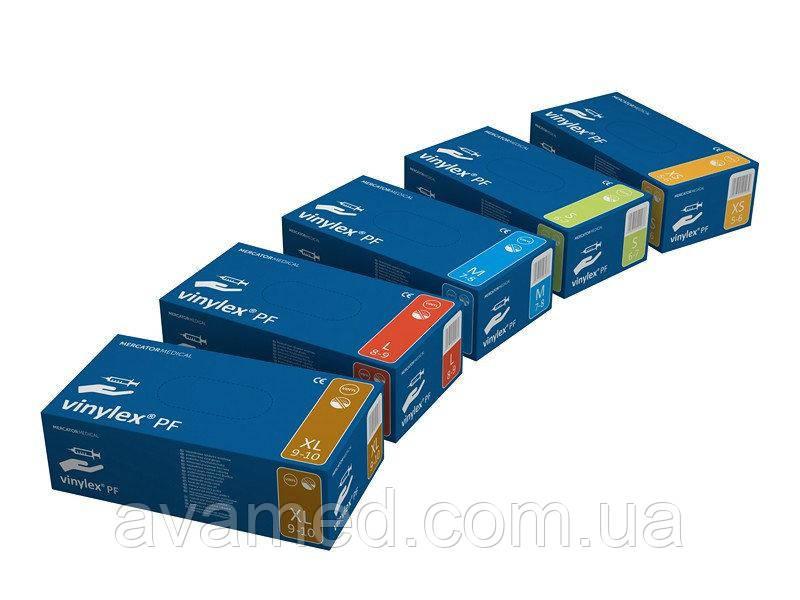 Перчатки Vinilex PF / Work&Care виниловые неопудренные (100 штук/упаковка)