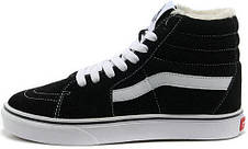 Кеды Vans SK8 - Hi. Winter Edition Black\White, зимние вансы с мехом, фото 2