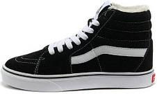Кеды Vans SK8 - Hi. Winter Edition Black\White, зимние вансы с мехом. ТОП Реплика ААА класса., фото 2